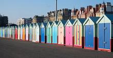 A Row Of Beach Huts Brighton A...