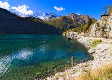 Lake Of Ceresole Reale, Near T...