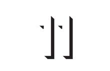 Black And White 11 Number Logo Icon Design