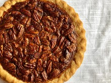 Partial View Of A Pecan Pie