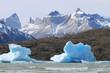 LagoEisberge im Lago Grey. Nationalpark Torres del Paine in Patagonien. Chile
