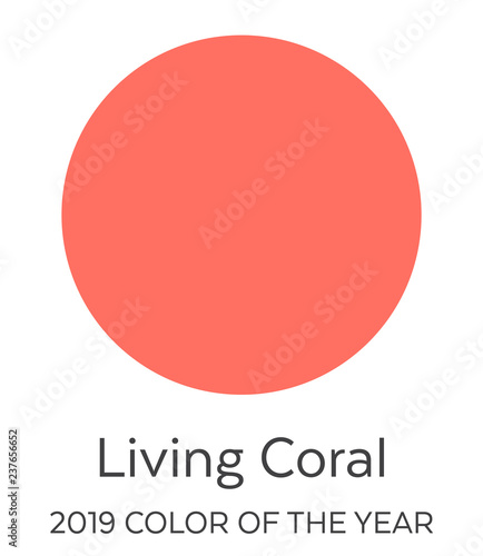 Living Coral Color Swatch - 2019 Color of the Year  Future