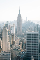 The Empire State Building and Midtown Manhattan skyline, in New York City