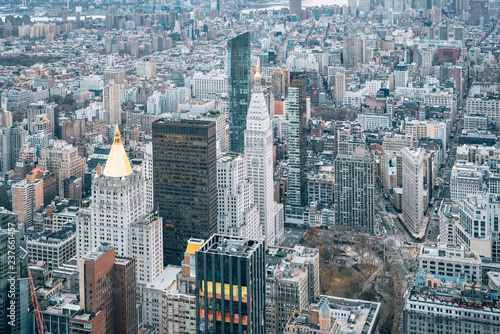 Deurstickers New York City View of Madison Square and the Flatiron District in Manhattan, New York City