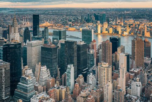 Foto op Plexiglas New York City View of buildings in Midtown Manhattan, in New York City