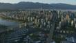 Aerial view Granville Island Vancouver British Columbia Canada