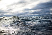 Winter Sailing. Cold Blue Sea ...