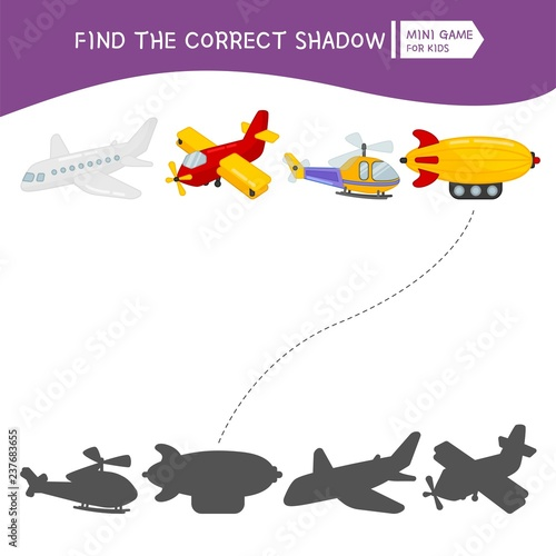 Educational game for children  Find the right shadow  Kids activity