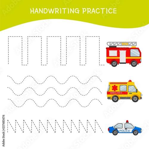 Fotografía  Handwriting practice sheet