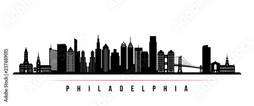Fotomural  Philadelphia city skyline horizontal banner