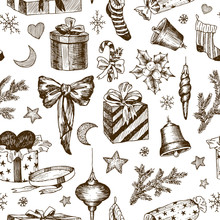Seamless Pattern Of Christmas ...