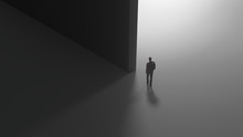 Man On The Edge Of Light And Darkness