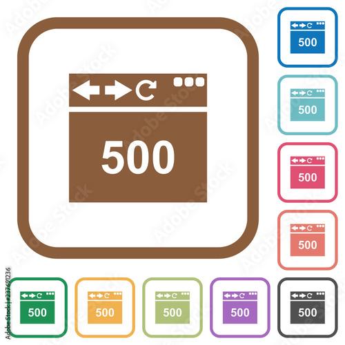 Fotografia  Browser 500 internal server error simple icons