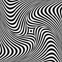 Abstract Op Art Graphic Design...