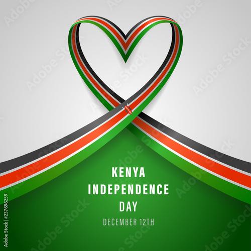 Kenya Independence Day Vector Template Design Illustration Wall mural