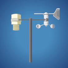 Weather Station - Simple Element - Vector Illustration