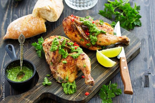 Baked Chicken with Mint Green Sauce...