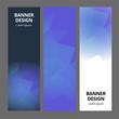 Modern abstract banner polygonal background template design. Banner set