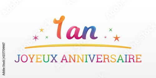 1 An Joyeux Anniversaire Buy This Stock Vector And