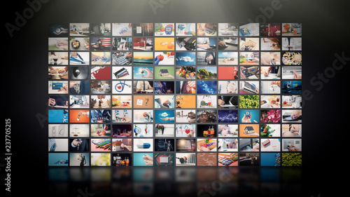 Photo  Television streaming video. Media TV on demand