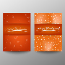 Happy Thanksgiving Banner. Invitation Design For A Thanksgiving Dinner Or Party. Vector Template, Can Be Used For Poster, Banner, Flyer, Invitation, Greeting Card, Menu. Vector. A4