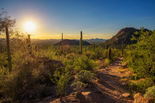 Sunset Over Hiking Trail In Sa...