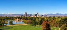 Skyline Of Denver Downtown Wit...