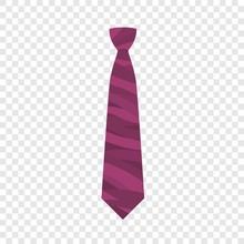 Pink Tie Icon. Flat Illustration Of Pink Tie Vector Icon For Web Design