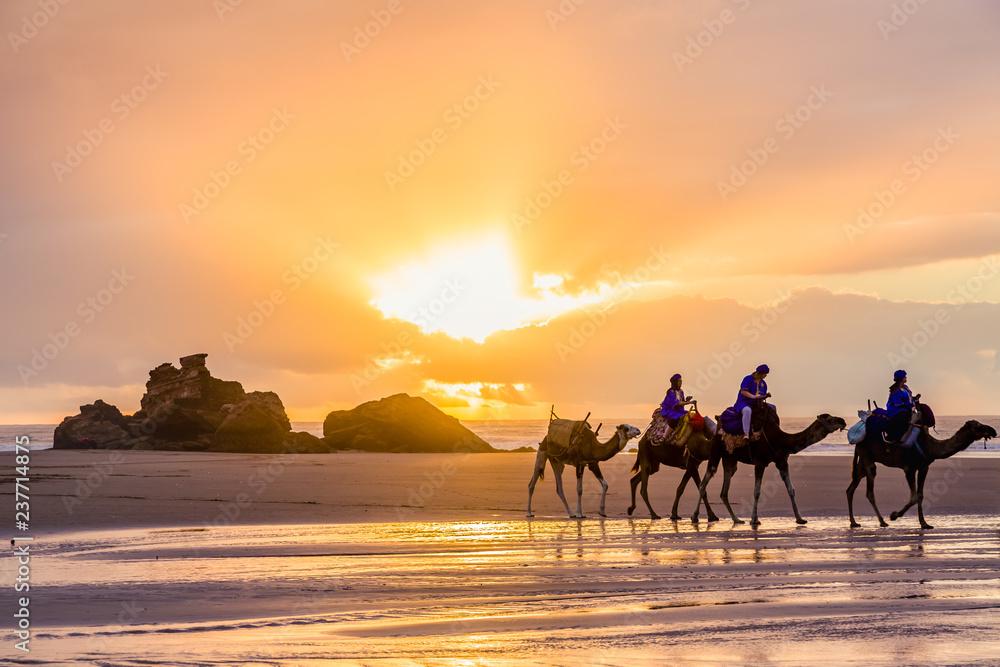 Fototapety, obrazy: Early evening at Tagharte Beach near Essaouira