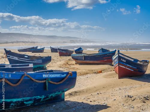 Foto op Aluminium Arctica Fishing boats on Bhaibah beach? Morocco