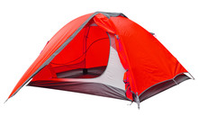 Red Open Tourist Tent
