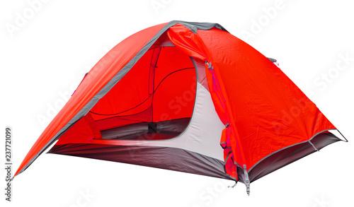 Stampa su Tela Red open tourist tent