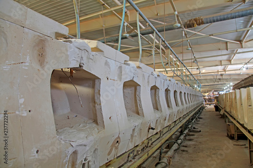 Fototapety, obrazy: Ceramic mould in a factory
