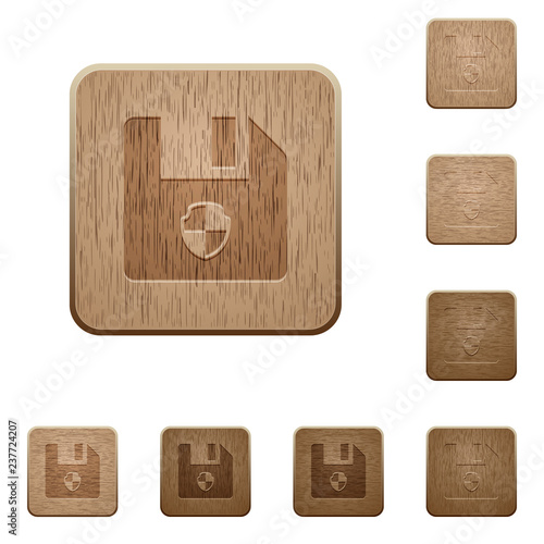 Fotografering  Protect file wooden buttons
