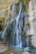 Gegsky Waterfall Flowing From ...