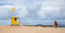 Lifeguard Tower On Beach , Canary Islands