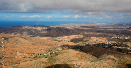 Fotografia  Panorama landscape of Fuerteventura, Canary Islands