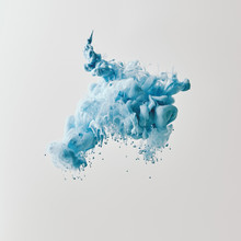 Abstract Texture With Blue Paint Splash