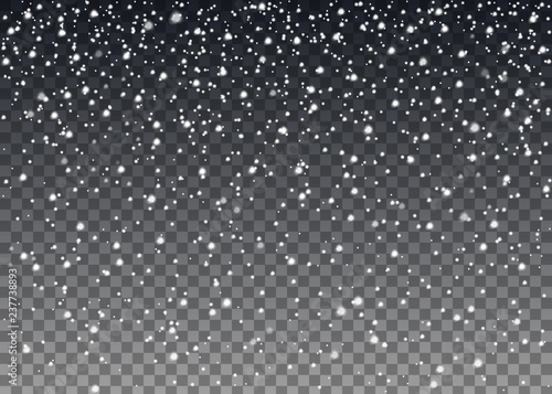 Fotografija Realistic falling snowflakes