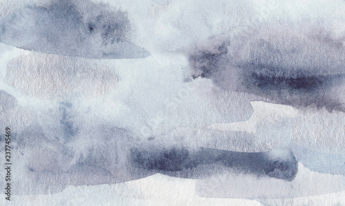 Winter watercolor texture. Canvas Print