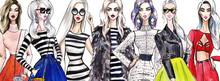 Illustration Fashionable Girls...
