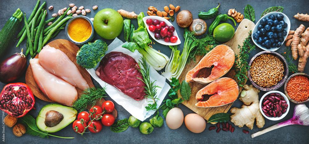 Fototapety, obrazy: Balanced diet food background