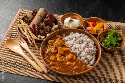 Obraz カレーライス Curry and rice - fototapety do salonu