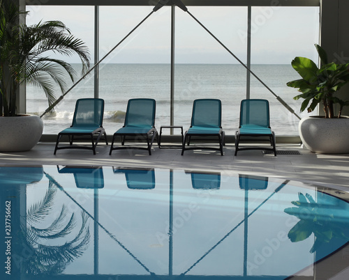 Fotografie, Tablou Spa area with swimming pool