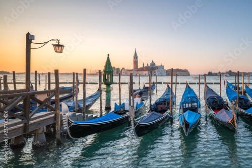 Spoed Foto op Canvas Centraal Europa Gondeln in Venedig, Italien