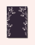 card with elegant floral decoration