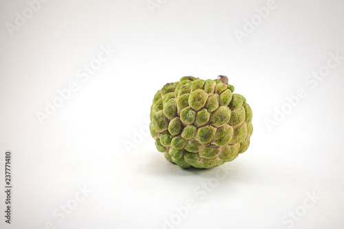 Sugar apple or custard apple isolated on white background, exotic tropical Thai Canvas Print