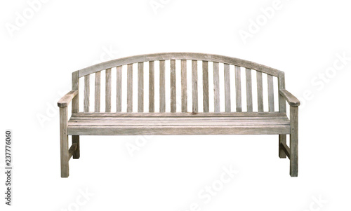 bench isolated on white background Canvas Print