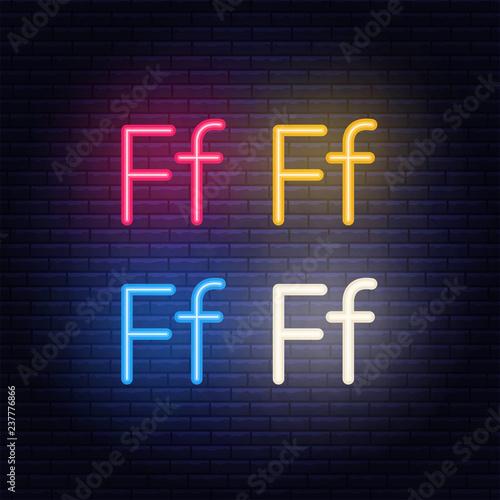 neon letters font on dark blue background vector illustration of eps 10