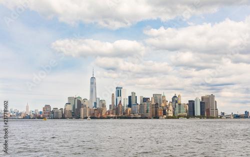Fototapeten New York New York, panoramic view of downtown Manhattan